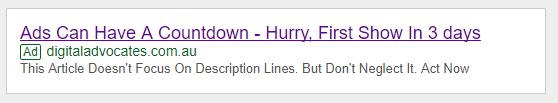Countdown Ad