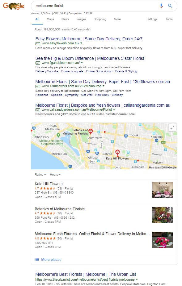 Florist search